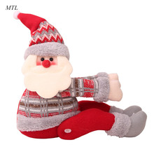 MTL Christmas Doll Toys Santa Claus Snowman Elk Christmas Tree Hanging Ornament Decoration for Home Xmas Party New Year Gifts цена в Москве и Питере
