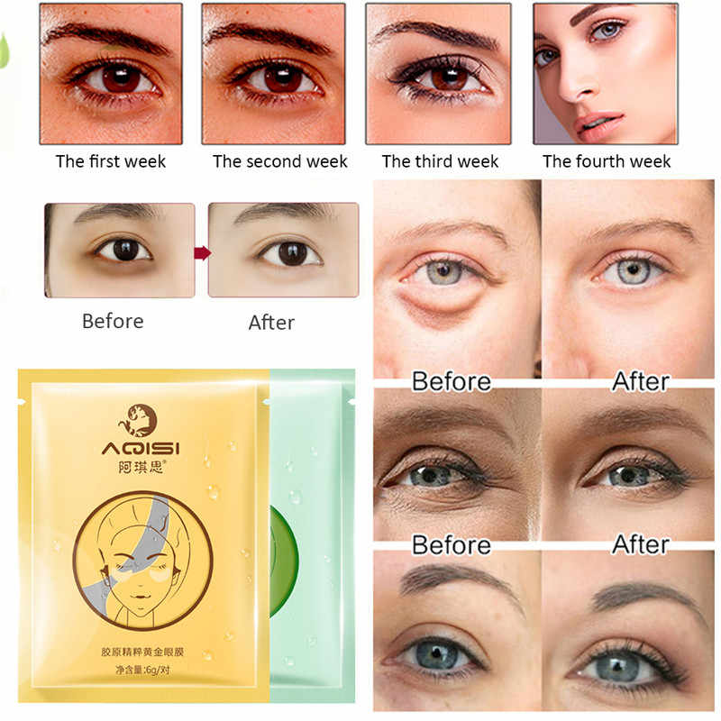 Narzędzia do pielęgnacji oczu kolagen maska do oczu pielęgnacja Anti-obrzęk podwójne korekcja powiek Patch podkładka żelowa przeciwzmarszczkowy żel oczu torba uroda