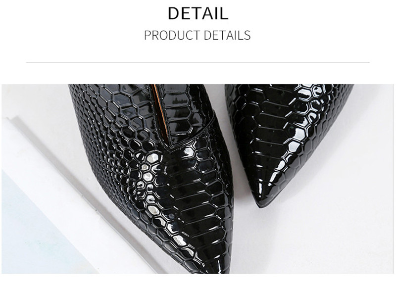 Snake Patent Leather Stilettos Pumps Women Shoes Tip Head V Mouth High Heels Women Shoes 2020 Spring Small Thin Heel Lady Pumps (1)