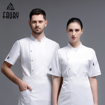 2020 Chef Restaurant Uniform Shirt Breathable Cook Jacket Unise Chef Work Clothes Bakery Food Service Cafe Hotel Waiter Overalls фото