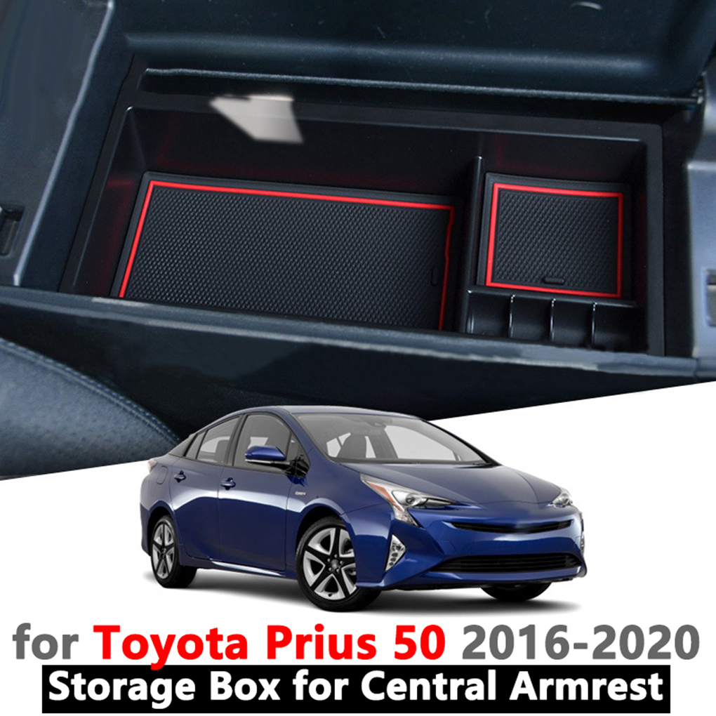linfei Car Central Armrest Storage Box For Toyota Prius 30 2012-2015 Prius30 Interior Accessories Coin Storage Tidying Box