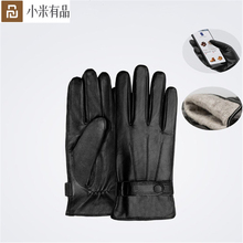 YouPin Qimian Lambskin Touch Screen Gloves Spanish Raw Winter Autumn Thicken Warm unisex for driving,moto,fishing Gloves For Men