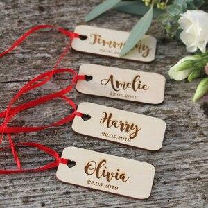 24 персонализированные Выгравированные деревенские крестины деревянные спасибо бирки, приветственный ярлык сумки, Подарочная бирка на зак...