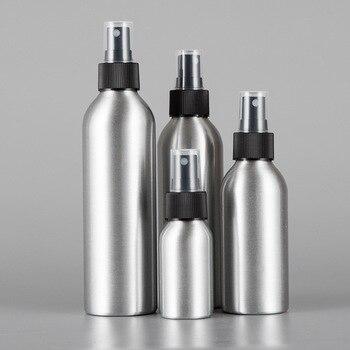 30/50/100ML Aluminum Spray Bottle Refillable Perfume Portable Empty Container Travel Cosmetic Sprayer Atomizer Silver aluminum spray bottle portable mini perfume bottles empty refillable cosmetic sprayer atomizer 30ml 50ml 100ml 120ml 150ml 250ml