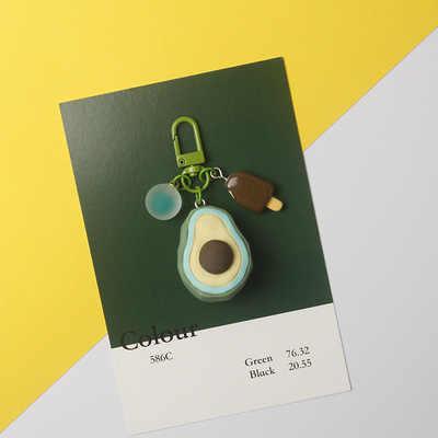 2019 Criativo Banana Abacate Abacaxi Fruto De Simulação da corrente Chave Chaveiro Chaveiros de silicone Apropriado Para A Jóia das Mulheres Presentes