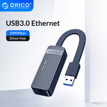 ORICO – adaptateur Ethernet Lan RJ45, carte réseau USB3.0, pour PC Windows 10, Xiaomi Mi Box 3 S, Nintendo Switch