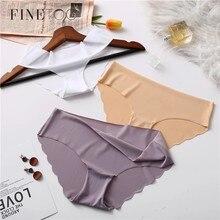 FINETOO dikişsiz külot seti iç çamaşırı kadın konfor Intimates 2 adet/grup moda kadın düşük katlı külot 8 renkler bayan iç çamaşırı