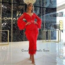 Очаровательные Горячие Красные кружевные коктейльные платья
