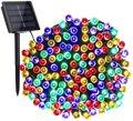 Светодиодный светильник полосы солнечный светильник 5 м 7 м 12 м 22 Мощность светодиодный светящиеся гирлянды светильник s гирлянды на солнечн...