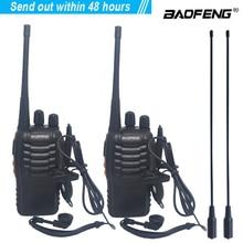 2 개/몫 baofeng BF 888S 워키 토키 양방향 라디오 세트 BF 888s UHF 400 470MHz 16CH 워키 토키 라디오 트랜시버