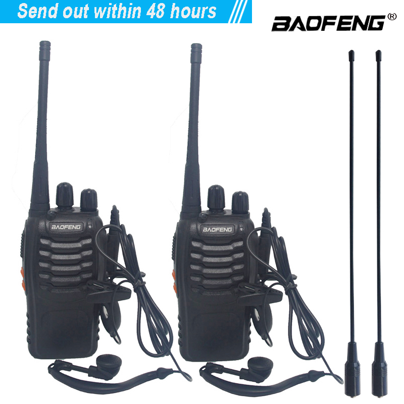 2 pçs/lote conjunto BF-888S Walkie talkie Two-way radio baofeng BF 888s 16CH walkie-talkie UHF 400-470MHz Transceptor de Rádio