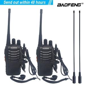 Image 1 - 2pcs/lot baofeng BF 888S Walkie talkie Two way radio set BF 888s UHF 400 470MHz 16CH walkie talkie Radio Transceiver