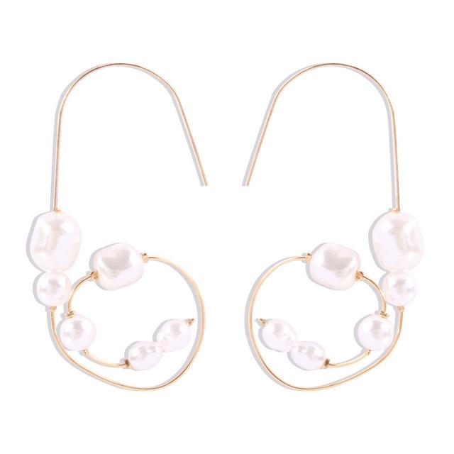 Baroque Irregular Pearl Earrings 3