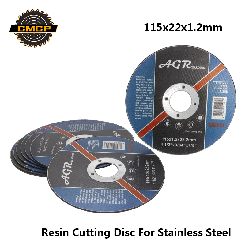 Free Shipping 115x22x1.2mm Stainless Steel Resin Cutting Wheel Disc For Angle Grinder Metal Cut Off Wheel Circular Saw Blade