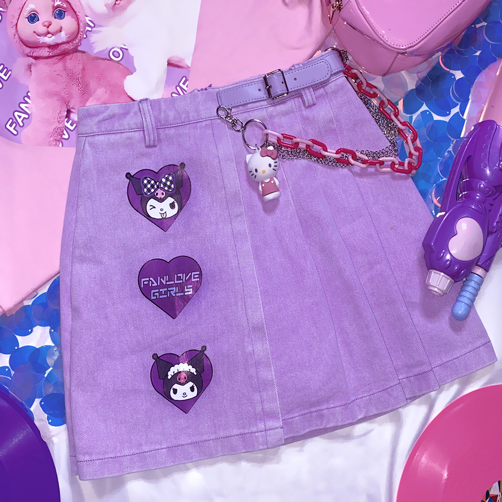 Kawaii Purple Sanrio Kuromi Skirt 1