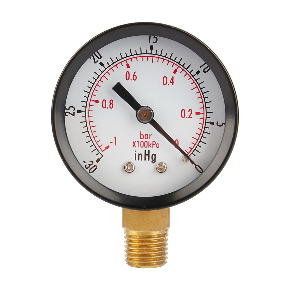 "ANENG 2"" Vacuum Pressure Gauge Dual Scale   PSI / Bar Air Compressor Water Oil Gas 1/4"" NPT Lower Mount MF Pressure Meter Gauge
