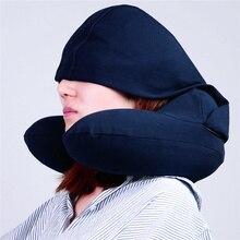 Multifunction U Shape Inflatable Travel Pillow Folding Lightweight nap Neck Car Seat office Airplane sleep Cushion