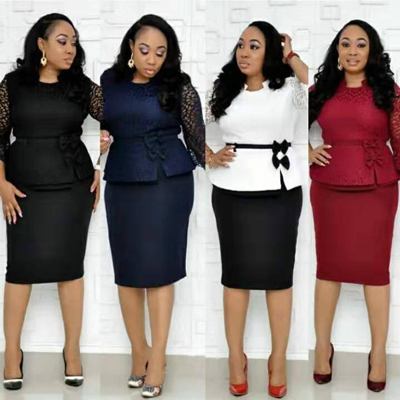 HGTE Office work OL dress 2019 - 5XL 4