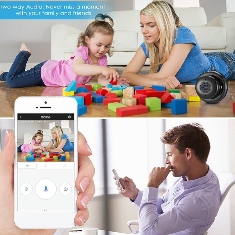 1080P IP Baby Monitor Camera With Night Vision CCTV Cam For Your Child Safety 2