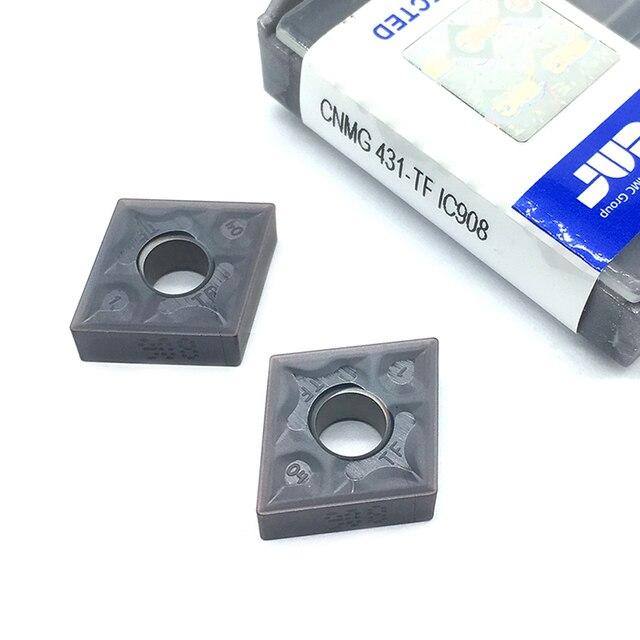 20PCS  CNMG120404 TF IC908  External Turning Tools CNMG 120404 431 Carbide insert Lathe cutter Tool Tokarnyy turning insert
