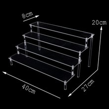Action Figure Display Stand Toy Model Display Stand Decoration Put Doll Doll Hand Handle Trapezoidal Shelf Box Accessories