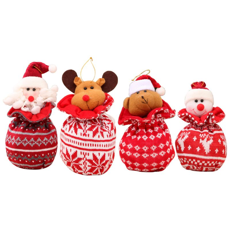 Christmas Candy Bag Pendant Kids Friends Xmas Gift Party Tree Decoration