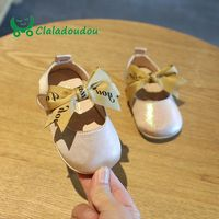 Claladoudou11.5 13.5CM brand fashion cotton fabric pure new born baby shoes lace butterfly toddler shoes girl princess shoes