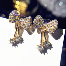 925 silver needle The pendants Bowknot is personality restoring ancient ways Set auger Womens fashion jewelry