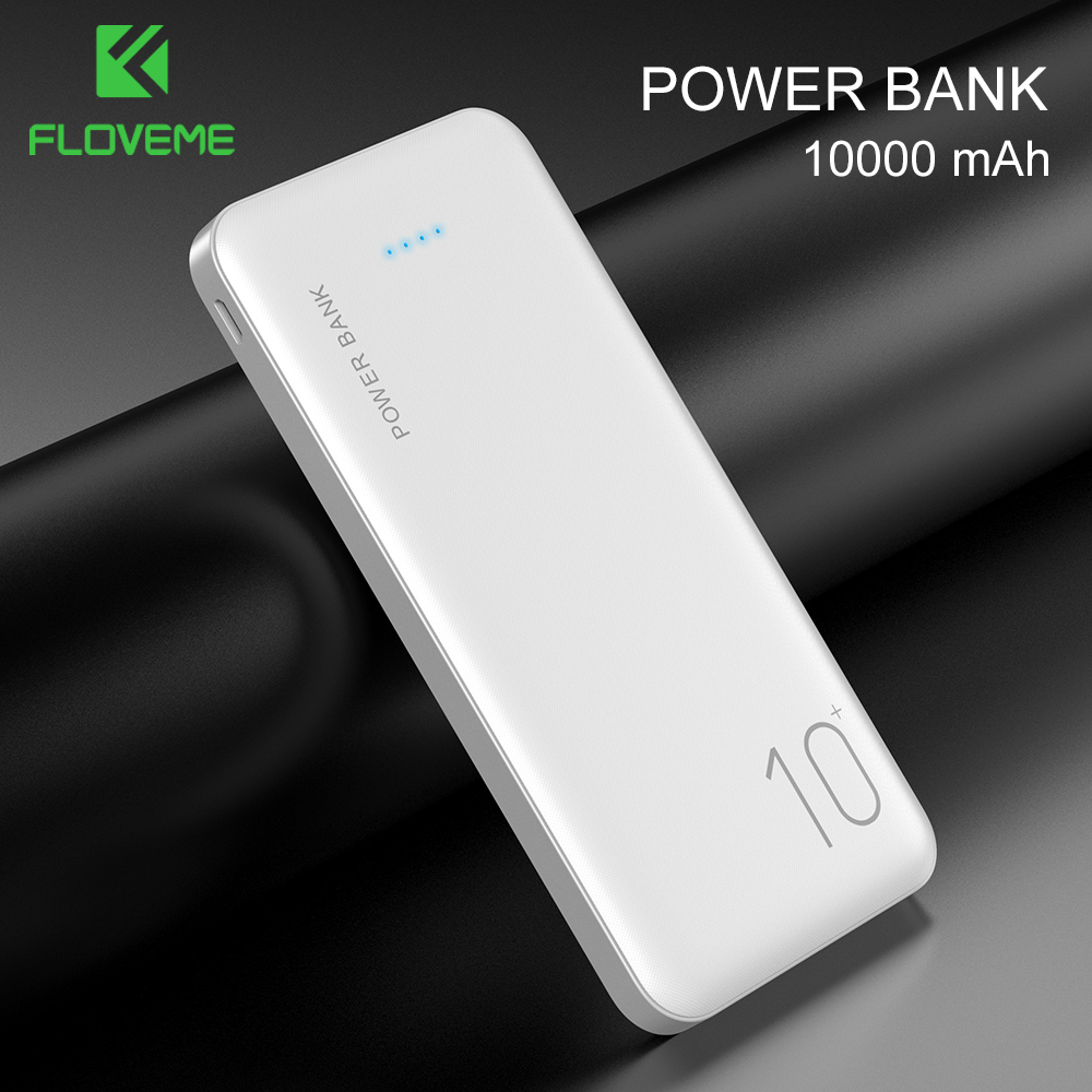 FLOVEME Power Bank 10000 mAh Tragbare Ladegerät Für Samsung Xiao mi mi Mobile Externe Batterie Power 10000 mAh Poverbank Telefon