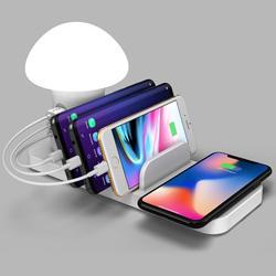 Szybkie bezprzewodowe ładowanie Adapter czytanie uchwyt telefonu 3 stacja USB stojak na iphone'a telefony komórkowe tablety wiele urządzeń