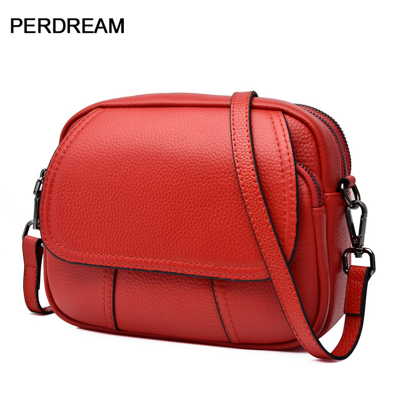 Korean Fashion Messenger Bag 2020 New Top Layer Cowhide Ladies Shoulder Bag Casual Leather Mini Female Bag