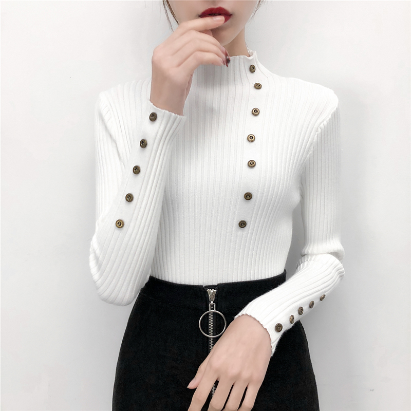 New Coltrui Women Button Decoration Truien Fashion Winter Restore Trui Women Trui Jumper Women's Trunks