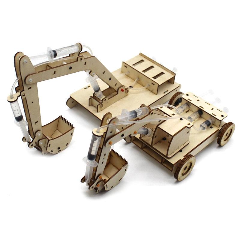 Madre juguetes educativos para niños la ciencia física experimento juguete tecnológico DIY conjunto Excavadora hidráulica modelo Juguetes