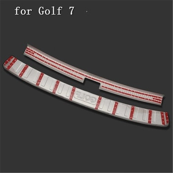 304 stainless steel car Rear Bumper Protector Sill Trunk Tread Plate Trim for Volkswagen Golf 7 2018 Car styling fgh