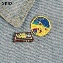 Xedz пицца эмалированная булавка граммофон красный фасоль пустыня