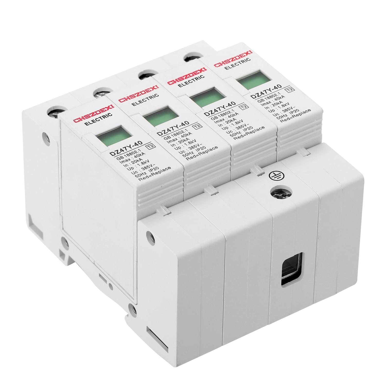 DZ47Y-40KA, 385 в, SPD, дом, сетевой фильтр, защита от перенапряжения, низкое напряжение, 4 P, защита, съемное устройство, 35 мм, din-рейка