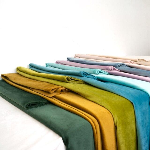 280 センチメートル幅ベルベットベロア生地テーブルクロスカーテンソファ椅子生地クッション枕赤黒青茶緑ピンク紫