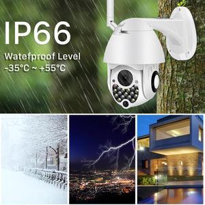 Image 4 - Caméra extérieure de Wifi PTZ de 1080P avec la sirène automatique dépistant la caméra dip de sécurité à la maison de nuage 2MP 4X caméra numérique de dôme de vitesse de Zoom