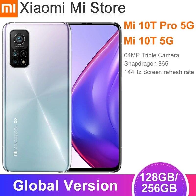 Глобальная версия Xiaomi Mi 10T/10T Pro Смартфон Snapdragon 865 Восьмиядерный 144 Гц 64MP/108MP задняя камера 6,67