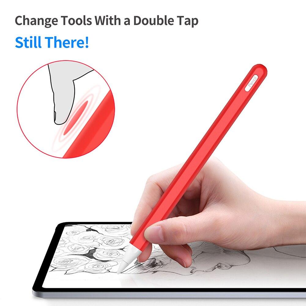 Anti-Slip Silicone Pencil Sleeve Cover Protective Case For Apple Pencil 2 SD998