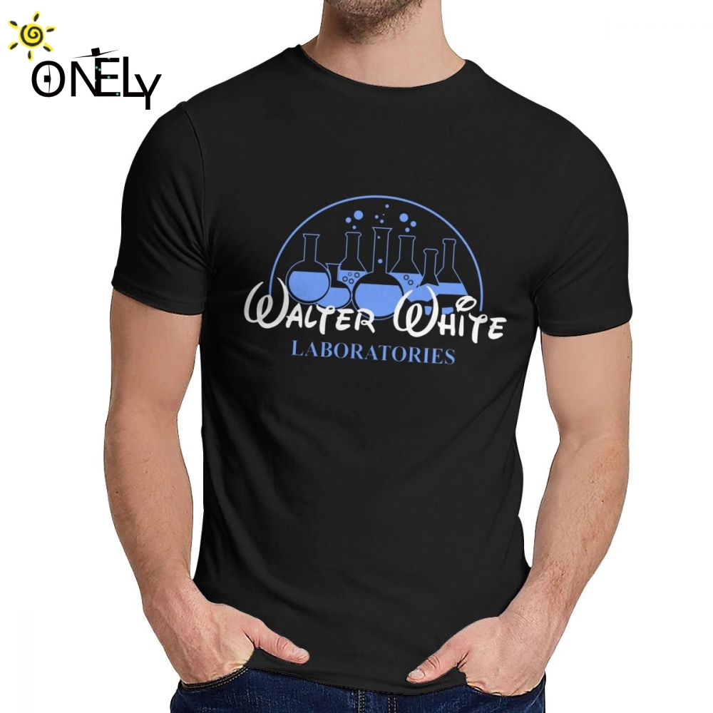 For Men T Shirt Walter White Laboratories Breaking Bad Great Graphic Round Collar Retro T Shirt image