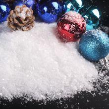 Poudre de neige artificielle 100 g/paquet, décoration de fête de noël reine des neiges, flocons de neige pelucheux, décoration d'hiver