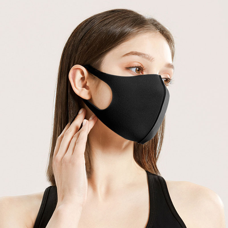 Oein Solid  Mask Sponge Thin Personality Mask For Men/Women Dustproof Earloop Mouth Mask Warm And Windproof Spring Winter Summer