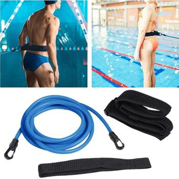 Adjustable Swim Training Resistance Elastic Belt Swimming Exerciser Safety Rope  Latex Tubes Various Specifications Styles