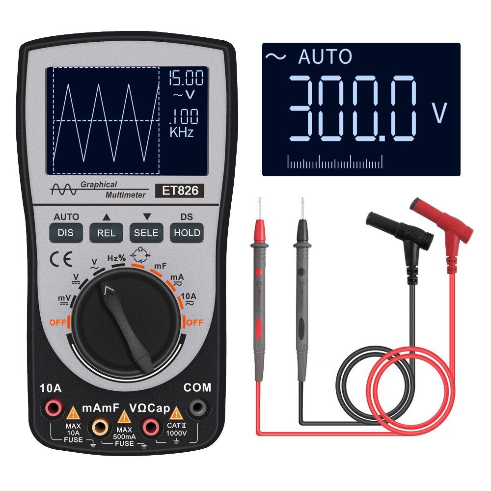 Цифровой осциллограф мультиметр Постоянный/переменный ток напряжение Сопротивление Частота диодный тестер с 4000 отсчетов 20 кГц аналоговая ...