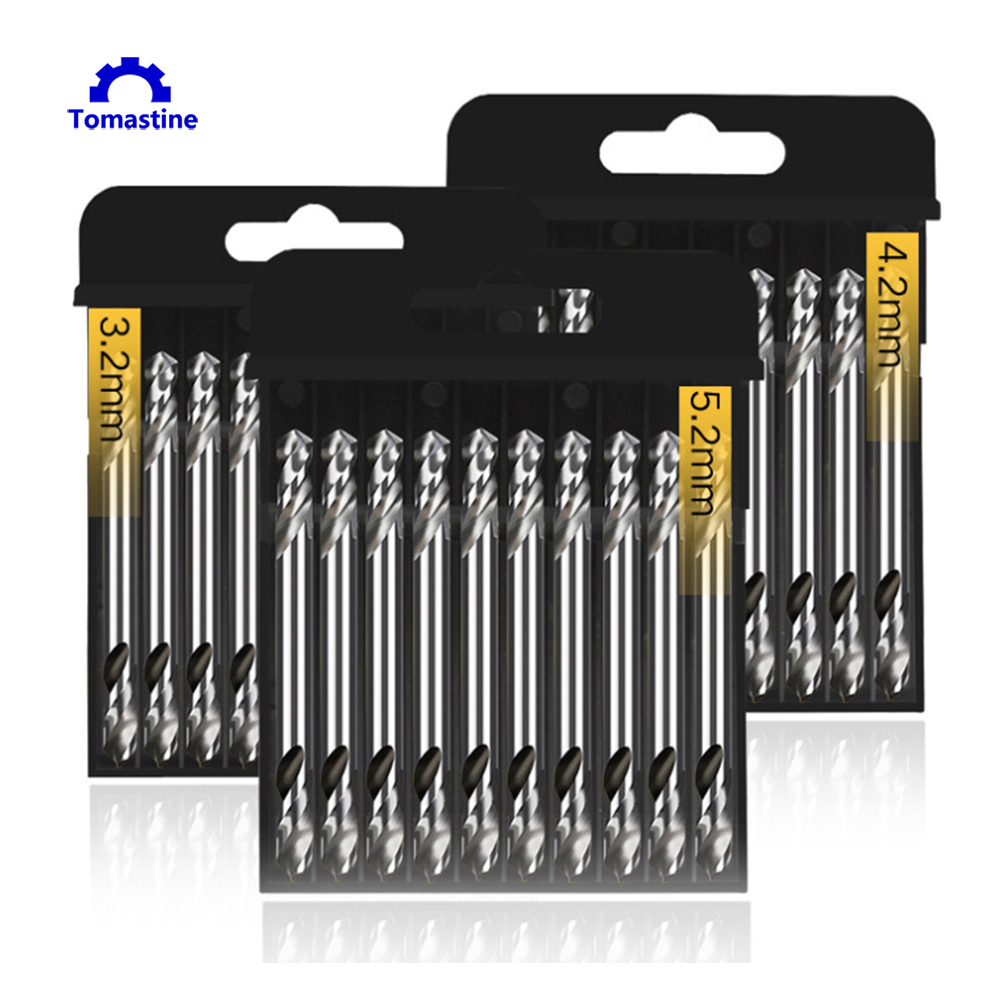 10x 3.2'' 5.2mm HSS Steel Twist Drill Stainless Bit Metal Carbon Drilling Tool