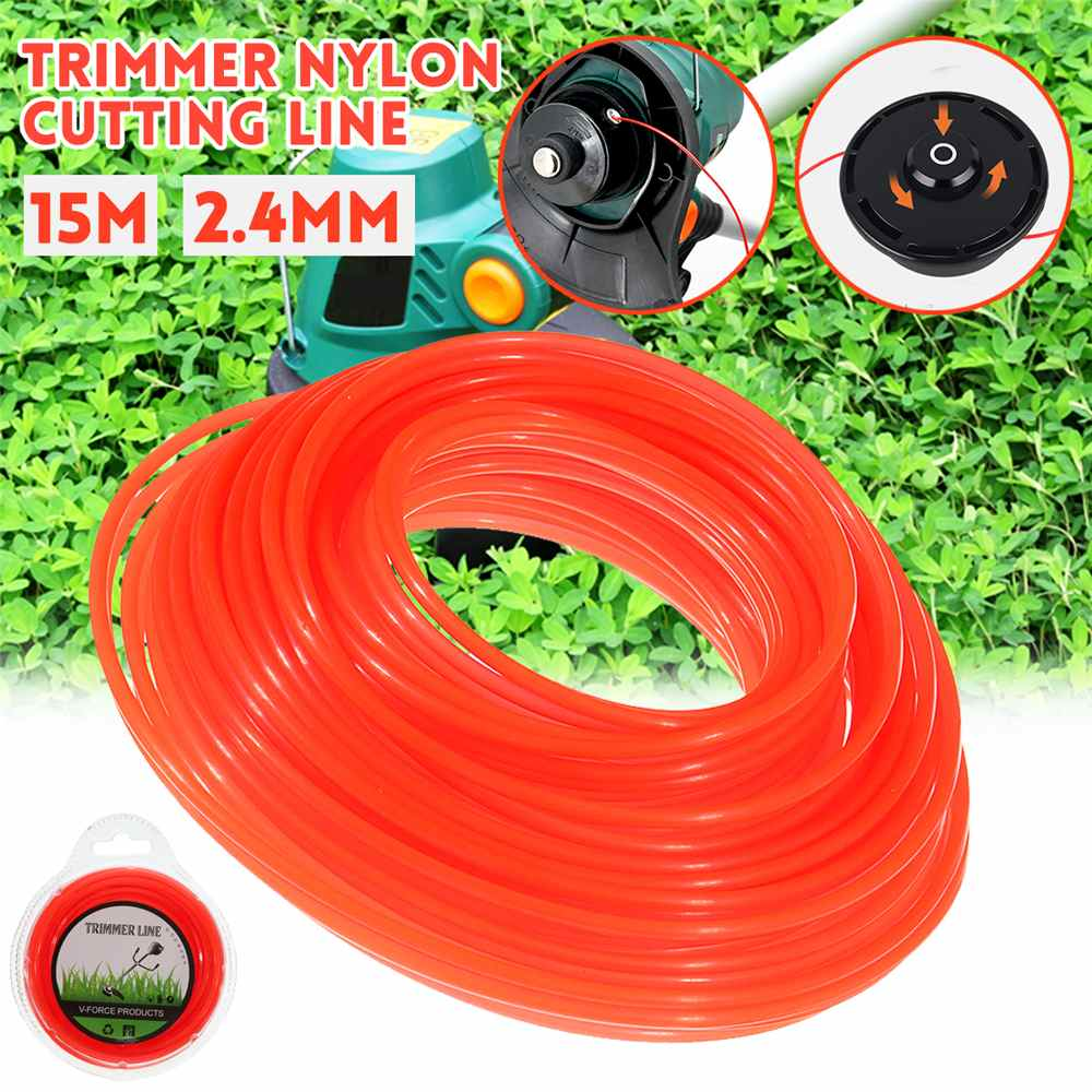 11pc 5M 2.4mm Grass Strimmer Trimmer Rope Nylon Brush Cutter Cutting Line Cord For STIHL Brush Cutters Mowing Machine Lawn Mower