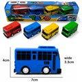 Корейское аниме Tayo маленький автобус пластиковая мини модель синего цвета Tayo Gani желтая Lani зеленая красная роджи модель автомобиля для дете...