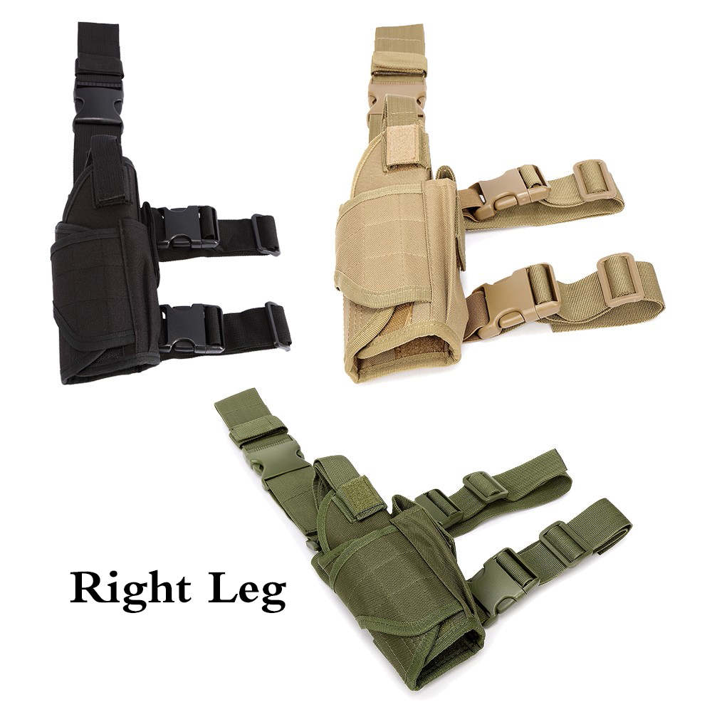 Tactical Right Drop Leg Gun Holster for Universal Airsoft Pistol Military Handgun Bag Ankle Holder Concealed Hunting Gun Case image