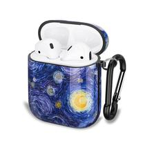 For Apple Airpods 1 2 wireless Charging Case Shockproof Carrying Protective TPU Cover Case  Airpod Earphone    van gogh Painting